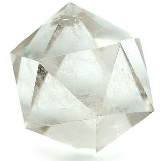 close-up of a Icosahedron crystal